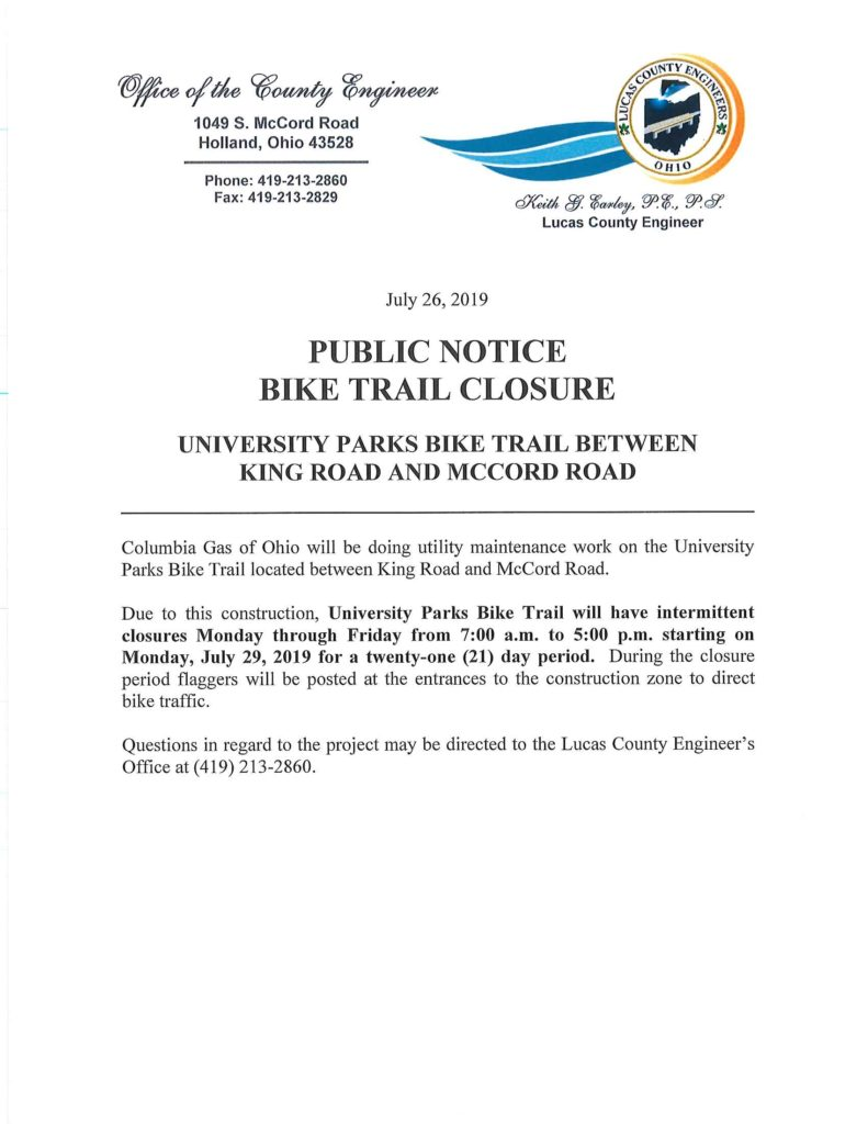 UT Bike Path Closure