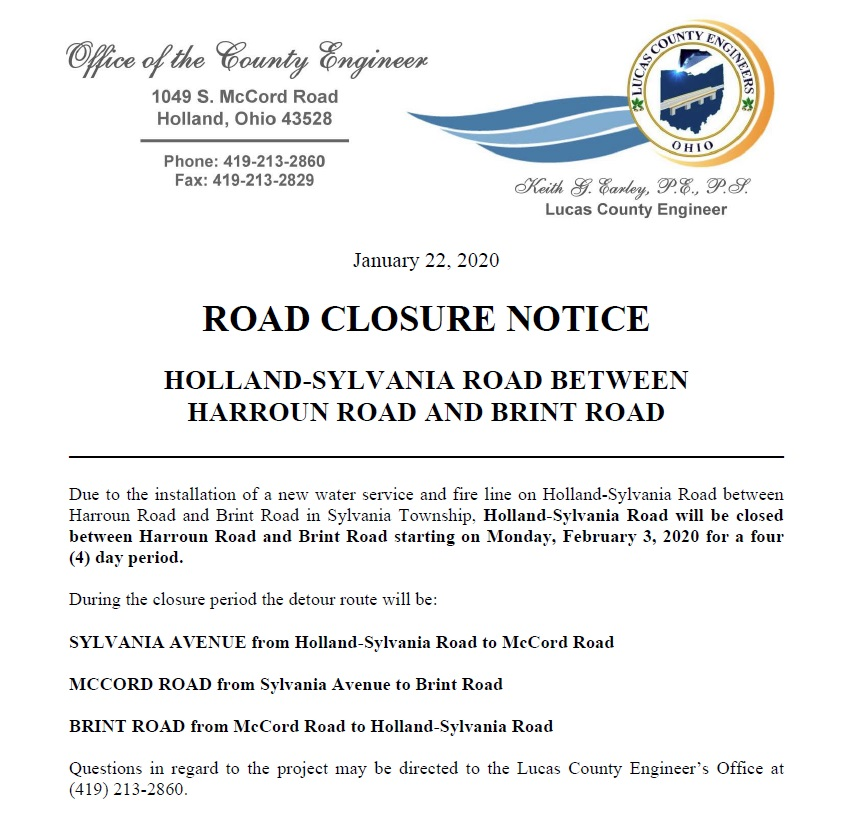 Road Closure Notice