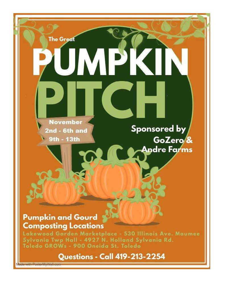 The Great Pumpkin Pitch composting event